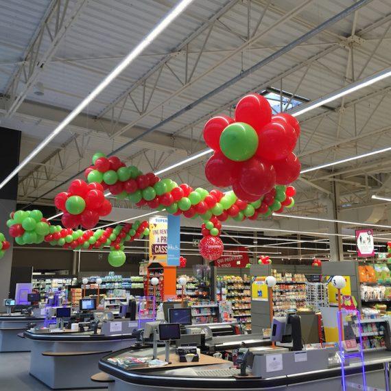 décoration ballon 2016 - Super U Le Palais sur Vienne