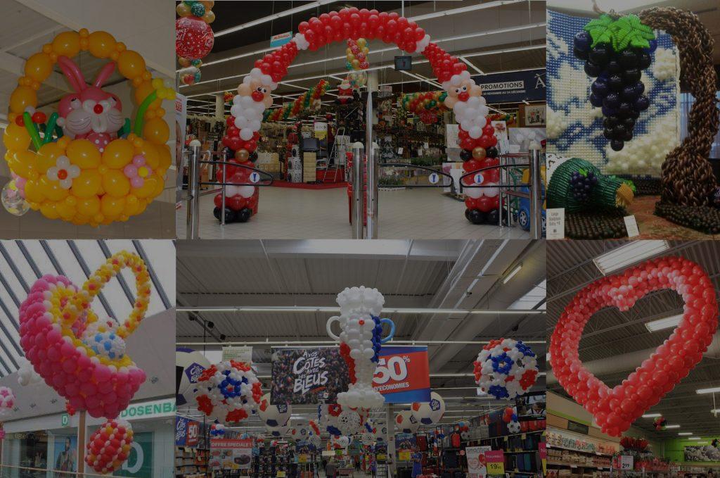 Découvrez les décorations ballons de SA Prod pour vos animations commerciales