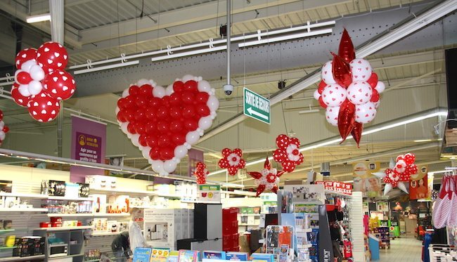 D coration ballon saint valentin sa prod agence for Decoration saint valentin